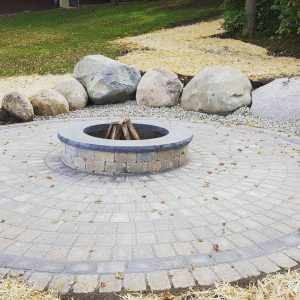 fireplace pit with pavers