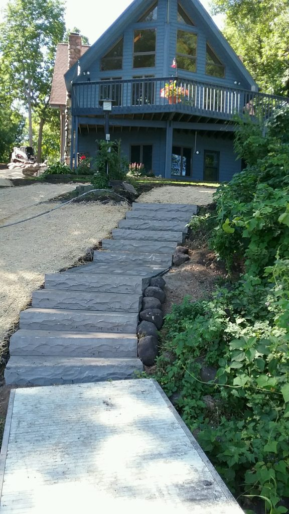 landscape patio retaining wall steps